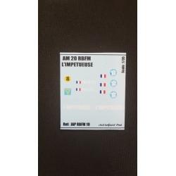 Décals 2 DB- JapModels - AM20 - IMPETUEUSE - Echelle 1/35