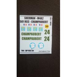 Décals 2 DB - JapModels - SHERMAN - CHAMPAUBERT - Echelle 1/35