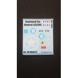 Décals 2 DB - JapModels - COMMAND CAR - GEN LECLERC - Echelle 1/35