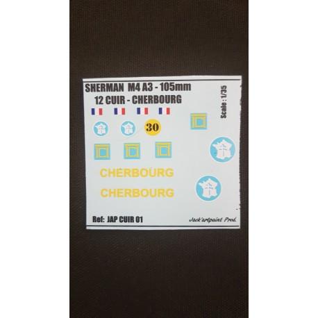 Décals 2 DB - JapModels - SHERMAN - CHERBOURG - Echelle 1/35