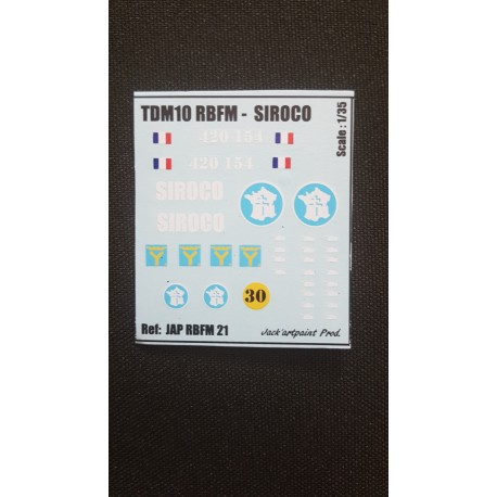 Décals 2DB - JapModels - TDM 10 - SIROCO - Echelle 1/35