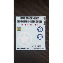 Décals 2DB - JapModels - HALF TRACK - DEPANNAGE RESCOUSSE - Echelle 1/35