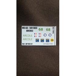 Décals 2 DB - JapModels - M3 A3 - ARCOLE - Echelle 1/35
