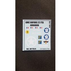 Décals 2 DB - JapModels - GMC BOFORS - ABBADON - Echelle 1/35