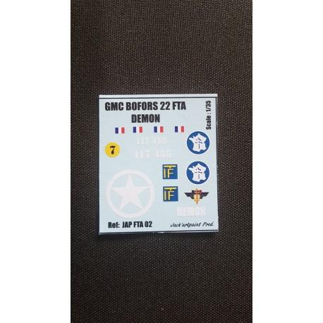 Décals 2 DB - JapModels - GMC BOFORS - DEMON - Echelle 1/35