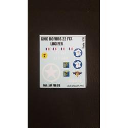 Décals 2DB - JapModels - GMC BOFORS - LUCIFER - Echelle 1/35