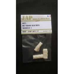 Accessoire - JapModels - SET DE 3 BACHES MODELE 1- 1/35