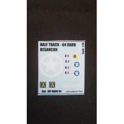 Décals 2 DB - JapModels - HALF TRACK - BESANCON - Echelle 1/35