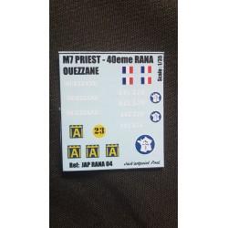 Décals 2 DB - JapModels - M7 PRIEST - OUEZZANE - Echelle 1/35