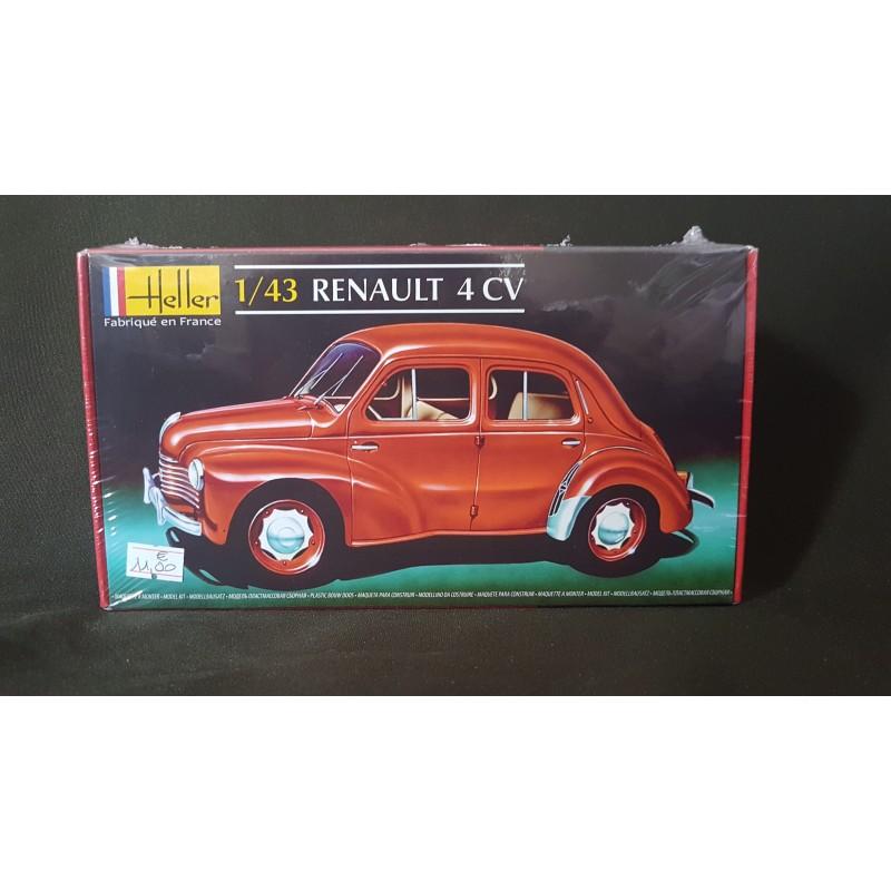 maquette heller - renault 4 cv - ech 1  43 - diorama