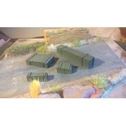 MAQUETTE RESINE JAPMODELS - 4 CAISSES US - WWII - ECH 1/35