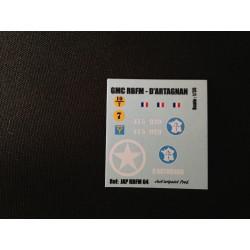 Décals 2DB - JapModels - GMC - D'ARTAGNAN - Echelle 1/35