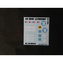 Décals 2DB - JapModels - CHAR M31 - LEE - LE PUISSANT - Echelle 1/35