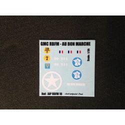 Décals 2 DB - JapModels - GMC - AU BON MARCHE - Echelle 1/35