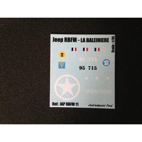 Décals 2DB - JapModels - JEEP - LA BALEINIERE - Echelle 1/35