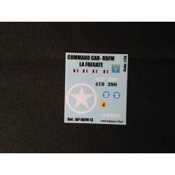 Décals 2DB - JapModels - COMMAND-CAR - LA FREGATE - Echelle 1/35