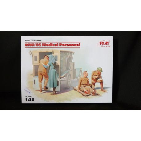 Figurine - ICM - US MEDICAL PERSONNAL - Echelle 1/35