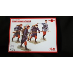 Figurine - ICM - FRENCH INFANTRY (1914) - Echelle 1/35