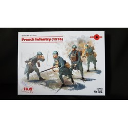 Figurine - ICM - FRENCH INFANTRY (1916) - Echelle 1/35