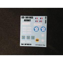 Décals 2 DB - JapModels - CHAR M31 - LEE - ACONIT - Echelle 1/35