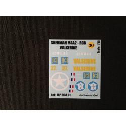 Décals 2 DB - JapModels - SHERMAN - M4A2 - VALSERINE - Echelle 1/35