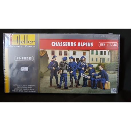 Figurine - HELLER - CHASSEUR ALPINS - Echelle 1/35