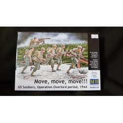 Figurine - MB - MOVE, MOVE, MOVE, US SOLDIERS - Echelle 1/35