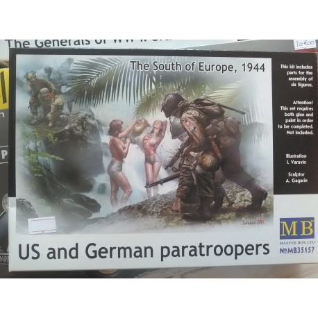 Figurine - MB - US & GERMAN PARATROOPERS (PIN-UP) - Echelle 1/35