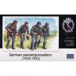Figurine - MB - GERMAN PANZERGRENADIERS (1939 - 1942) - Echelle 1/35