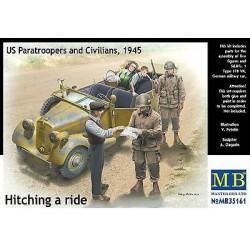 Figurine - MB - US PARATROOPERS & CIVILIANS (1945) - Echelle 1/35