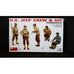 Figurine - MINIART - US JEEP CREW & MP - Echelle 1/35