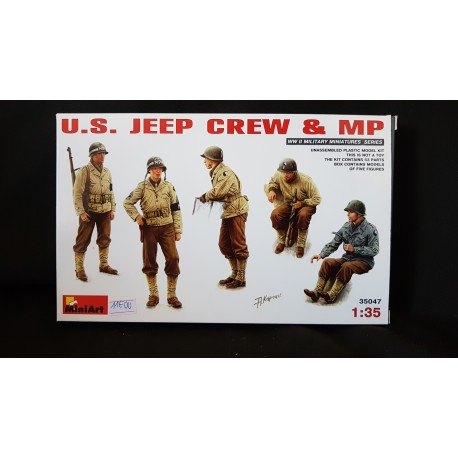 Figurine - MINIART - US JEEP CREW & MP - Echelle 1/35