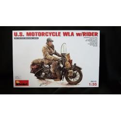 Figurine - MINI ART - US MOTORCYCLE WLA W/RIDER - Echelle 1/35