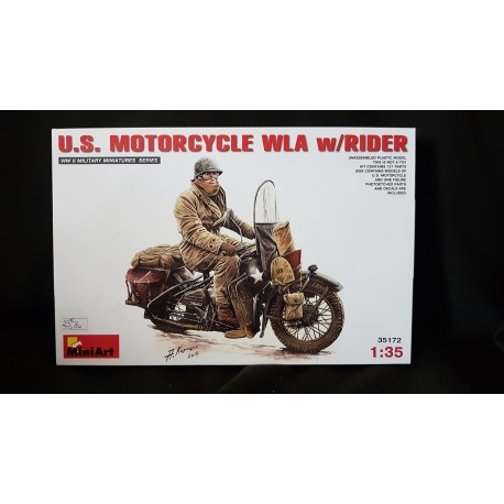 Figurine - MINI ART - US MOTORCYCLE WLA W/RIDER - Echelle 1/35