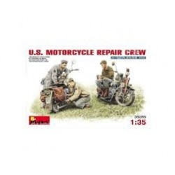 Figurine - MINI ART - US MOTORCYCLE REPAIR CREW - Echelle 1/35