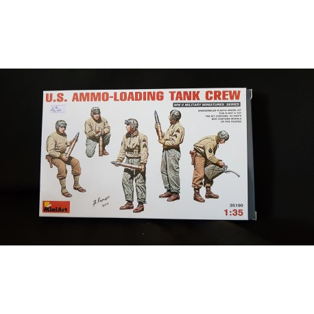 Figurine - MINI ART - US AMMO-LOADING TANK CREW - Echelle 1/35