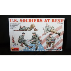 Figurine - MINI ART - US SOLDIERS AT REST - Echelle 1/35