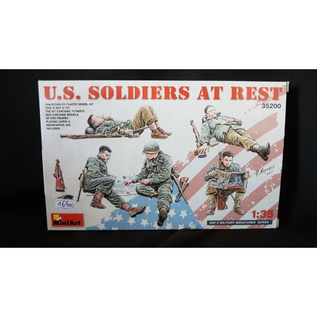 Figurine - MINI ART - US SOLDIERS AT REST - Echelle 1/35