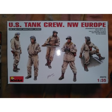 Figurine - MINI ART - US TANK CREW N.W EUROPE - Echelle 1/35