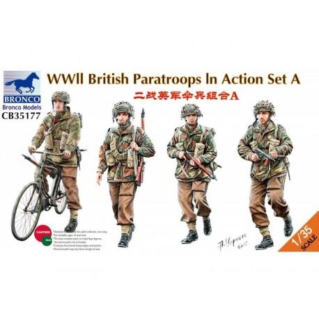 Figurine - BRONCO - WWII BRITISH PARATROOPS IN ACTION - Echelle 1/35