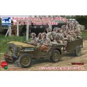 Maquette + Figurine - BRONCO - BRITISH AIRBORNE TROOPS RIDING IN 1/4 TON TRUCK & TRAILER - Echelle 1/35