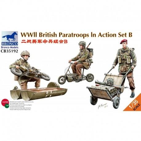 Figurine - BRONCO - WWII BRITISH PARATROOPS IN ACTION SET B - Echelle 1/35