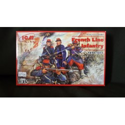 Figurine - ICM - FRENCH LINE INFANTRY (1870-1871) - Echelle 1/35