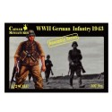Figurine - CAESAR MINIATURE - WWII GERMAN INFANTRY 1943 - Echelle 1/72