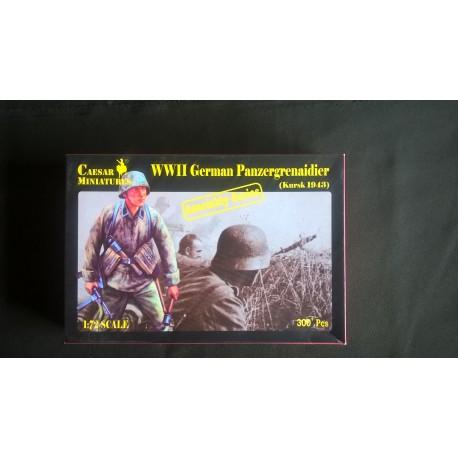 Figurine - CAESAR MINIATURE - WWII GERMAN PANZERGRENAIDIER 1943 - Echelle 1/72