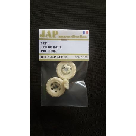 Accessoire - JapModels - Set jeu de roue secours GMC - ECH 1/35