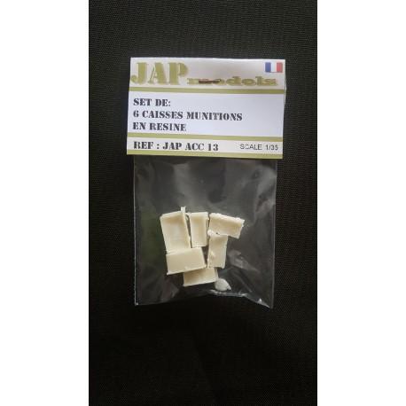 Accessoire - JapModels - Set 3 mini caisses bois en résine 1/35