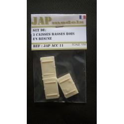 Accessoire - JapModels - Set 3 caisses basses bois en résines 1/35