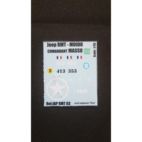 Décals 2DB - JapModels - JEEP - MOIDO - MASSU - Echelle 1/35