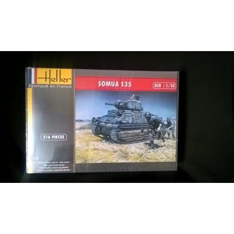 MAQUETTE HELLER - CHAR SOMUA S35 - ECH 1/35